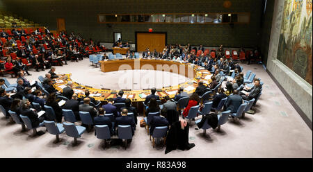 New York, USA - December 12, 2018: Security Council considers Non-proliferation meeting at UN Headquarters Credit: lev radin/Alamy Live News - Stock Photo