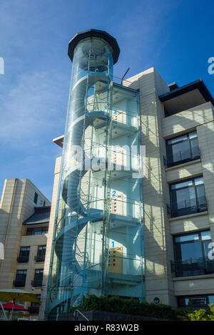 A detail of the Thames Water Head Office building, Clearwater Court,  by the Thames at Reading - Stock Photo