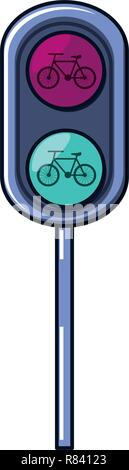 traffic light bicycle isolated icon vector illustration design - Stock Photo