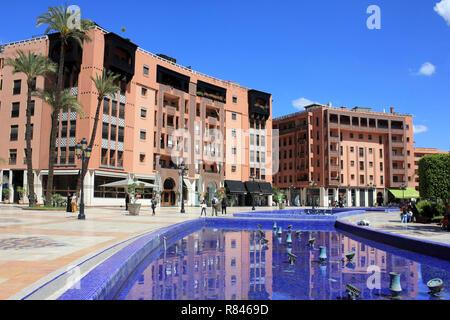 Marrakech Plaza, Place du 16 Novembre, Marrakech, Morocco, North Africa - Stock Photo