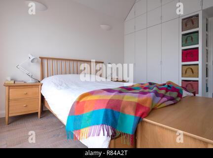 Scandi style, minimalist, uncluttered bedroom interior ...