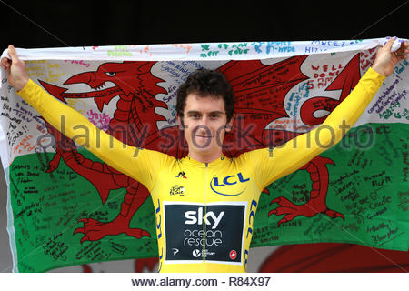 File photo dated 09-08-2018 of Geraint Thomas. - Stock Photo