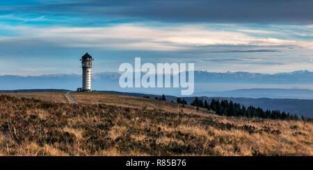 View to Feldberg in the Black Forest up to the Swiss Alps