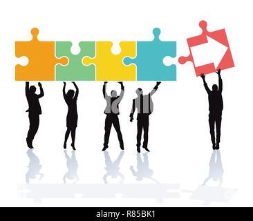 Successfully ascend,success climb - Stock Photo