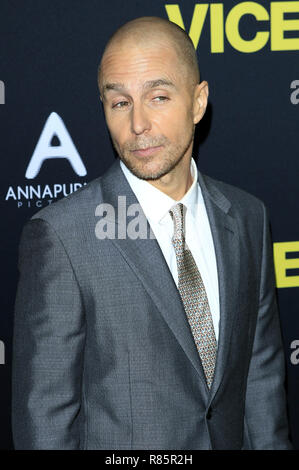 Sam Rockwell attending the 'Vice' World premiere at the Samuel Goldwyn Theater on December 11, 2018 in Beverly Hills, California. | Verwendung weltweit - Stock Photo