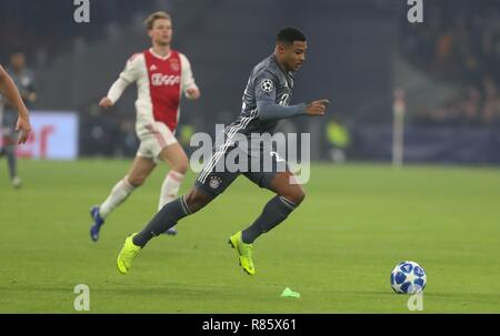 Amsterdam, Netherlands. 12th December, 2018. Serge Gnabry (Bayern Munich) during the UEFA Champions League, Group E football match between Ajax and Bayern Munich on December 12, 2018 at Johan Cruijff ArenA in Amsterdam, Netherlands - Photo Laurent Lairys / DPPI Credit: Laurent Lairys/Agence Locevaphotos/Alamy Live News - Stock Photo