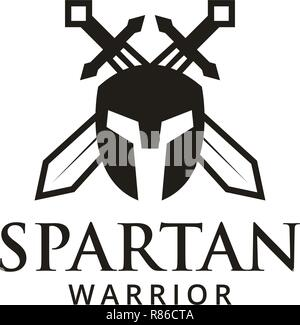 Spartan warrior logo design template vector illustration - Stock Photo