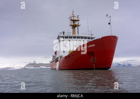 Henry Larsen at Pond Inlet Northwest Passage - Stock Photo