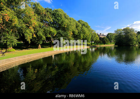The Pavilion Gardens in the market town of Buxton, Peak District National Park, Derbyshire, England, UK - Stock Photo