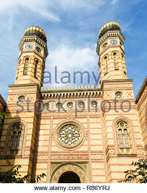 Dohany Street Synagogue or Great Synagogue, Budapest, Hungary - Stock Photo