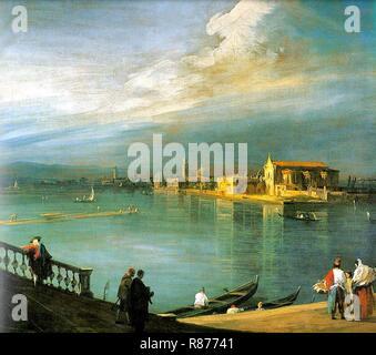 Canaletto, San Cristoforo, San Michele and Murano. - Stock Photo
