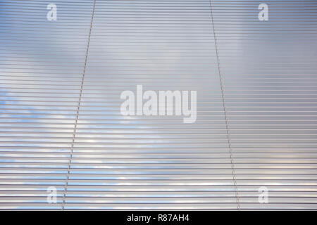 Venetian blinds, close up image as background texture, window decoration - Stock Photo