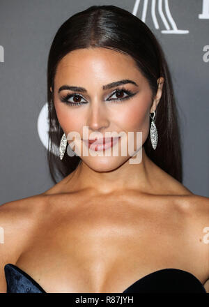 CULVER CITY, LOS ANGELES, CA, USA - NOVEMBER 10: Model Olivia Culpo wearing Carmen March arrives at the 2018 Baby2Baby Gala held at 3Labs on November 10, 2018 in Culver City, Los Angeles, California, United States. (Photo by Xavier Collin/Image Press Agency) - Stock Photo