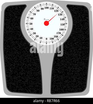 Bathroom weight scale . Isolated on white background. - Stock Photo