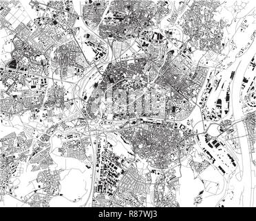 Urban vector city map of Strasbourg, France Stock Vector Art ...
