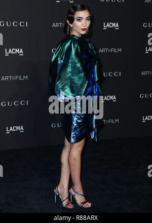 LOS ANGELES, CA, USA - NOVEMBER 03: Actress Rowan Blanchard wearing a Gucci dress arrives at the 2018 LACMA Art + Film Gala held at the Los Angeles County Museum of Art on November 3, 2018 in Los Angeles, California, United States. (Photo by Xavier Collin/Image Press Agency) - Stock Photo