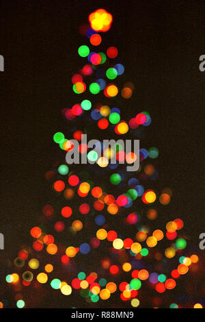 Shinny Christmas Tree, abstract background.Christmas background with shining lights.Merry christmas and happy new year greeting card.Christmas magic tree - Stock Photo