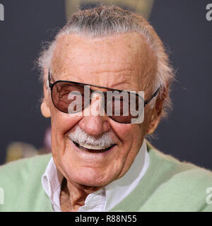 (FILE) Stan Lee Dies At 95. Stan Lee, the legendary writer, editor and publisher of Marvel Comics whose fantabulous but flawed creations made him a real-life superhero to comic book lovers everywhere, has died. He was 95. Lee, who began in the business in 1939 and created or co-created Black Panther, Spider-Man, the X-Men, the Mighty Thor, Iron Man, the Fantastic Four, the Incredible Hulk, Daredevil and Ant-Man, among countless other characters, died early Monday morning at Cedars-Sinai Medical Center in Los Angeles, a family representative told The Hollywood Reporter. HOLLYWOOD, LOS ANGELES,  - Stock Photo