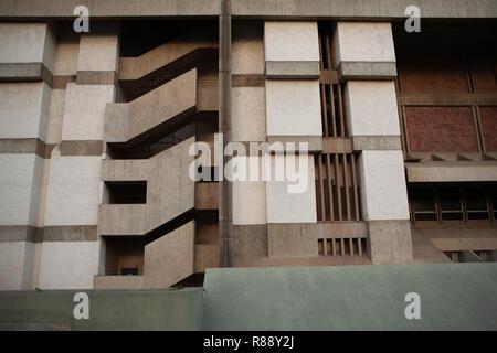 Concrete building facade, abstract detail, Caracas, Venezuela, South America - Stock Photo