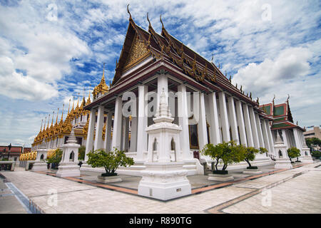 Wat Ratchanatdaram in Bangkok, Thailand. - Stock Photo