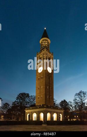 Belltower of University of North Carolina, Chapel Hill, North Carolina, USA.