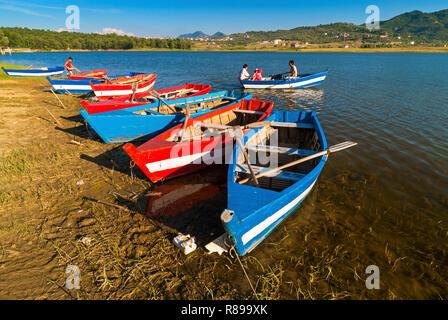 Artificial Lake in Tirana Park, Tirana, Albania - Stock Photo