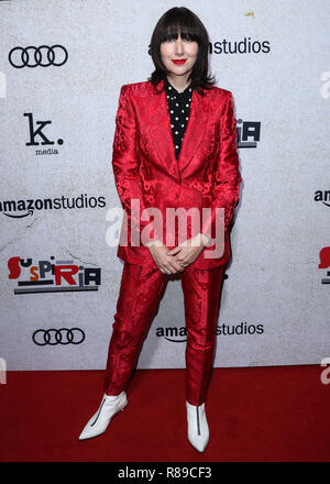 HOLLYWOOD, LOS ANGELES, CA, USA - OCTOBER 24: Karen O at the Los Angeles Premiere Of Amazon Studio's 'Suspiria' held at the ArcLight Cinerama Dome on October 24, 2018 in Hollywood, Los Angeles, California, United States. (Photo by Xavier Collin/Image Press Agency) - Stock Photo