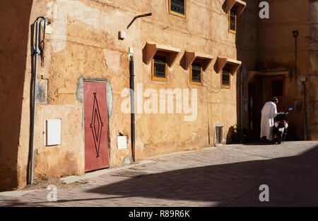Marrakech backstreet scene, Marrakesh medina, Marrakech Morocco North Africa - Stock Photo