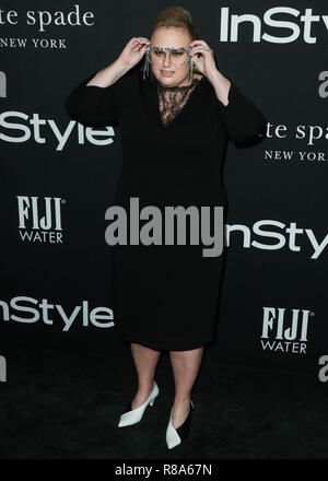 LOS ANGELES, CA, USA - OCTOBER 22: Actress Rebel Wilson wearing Givenchy arrives at the InStyle Awards 2018 held at the Getty Center on October 22, 2018 in Los Angeles, California, United States. (Photo by Xavier Collin/Image Press Agency) - Stock Photo