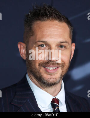 WESTWOOD, LOS ANGELES, CA, USA - OCTOBER 01: Tom Hardy at the World Premiere Of Columbia Pictures' 'Venom' held at the Regency Village Theater on October 1, 2018 in Westwood, Los Angeles, California, United States. (Photo by Xavier Collin/Image Press Agency) - Stock Photo