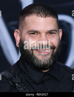 WESTWOOD, LOS ANGELES, CA, USA - OCTOBER 01: Guillermo Diaz at the World Premiere Of Columbia Pictures' 'Venom' held at the Regency Village Theater on October 1, 2018 in Westwood, Los Angeles, California, United States. (Photo by Xavier Collin/Image Press Agency) - Stock Photo