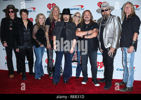 LAS VEGAS, NV, USA - SEPTEMBER 22: Mark Matejka, Rickey Medlocke, Gary Rossington, Keith Christopher, Lynyrd Skynyrd in the press room during the 2018 iHeartRadio Music Festival - Night 2 held at T-Mobile Arena on September 22, 2018 in Las Vegas, Nevada, United States. (Photo by Xavier Collin/Image Press Agency) - Stock Photo