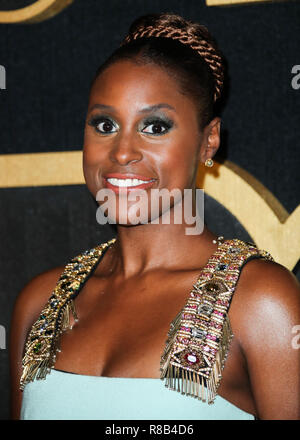 WEST HOLLYWOOD, LOS ANGELES, CA, USA - SEPTEMBER 17: Issa Rae at the HBO Emmy Awards After Party 2018 held at The Plaza at the Pacific Design Center on September 17, 2018 in West Hollywood, Los Angeles, California, United States. (Photo by Xavier Collin/Image Press Agency) - Stock Photo