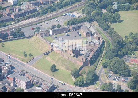 Carlisle Castle, medieval tower keep castle, Cumbria, 2014. Creator: Historic England Staff Photographer. - Stock Photo