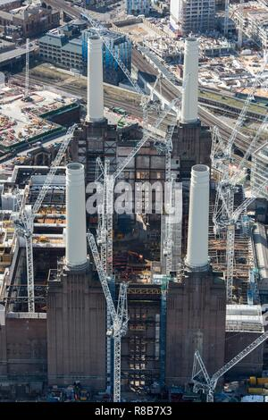 Renovation of Battersea Power Station as part of the Nine Elms Development, London, 2018. - Stock Photo