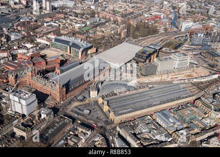 King's Cross and St Pancras International Railway Stations, London, 2018. - Stock Photo