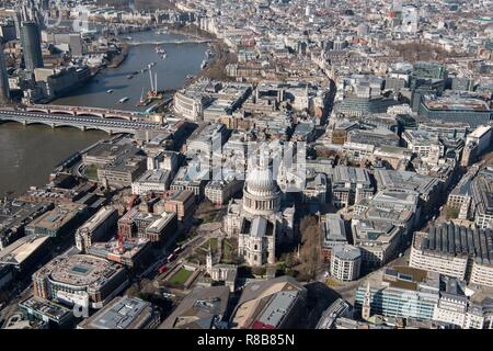 St Paul's Cathedral and the City of London, 2018. - Stock Photo