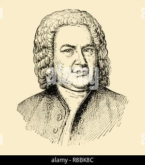 Johann Sebastian Bach, print Stock Photo: 277547385 - Alamy