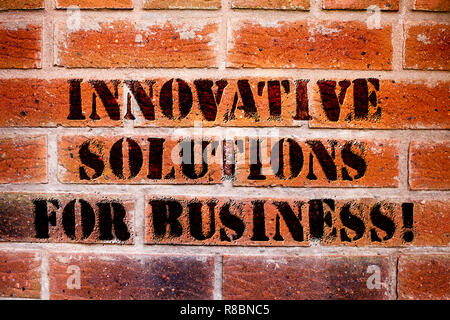 Conceptual hand writing showing Innovative Solutions For Business. Business photo text Modern ideas applied to companies - Stock Photo