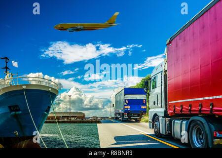 Transportlogistik Symbol Germany - Stock Photo