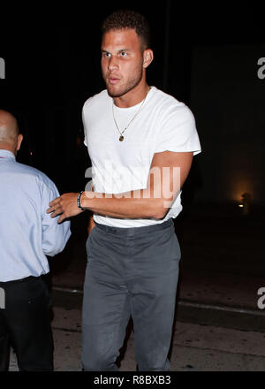 LOS ANGELES, CA, USA - SEPTEMBER 04: American basketball player Blake Griffin seen on September 4, 2018 in Los Angeles, California, United States. (Photo by Image Press Agency) - Stock Photo