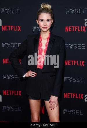 HOLLYWOOD, LOS ANGELES, CA, USA - MAY 06: Isabel May at the Netflix FYSee Kick Off Party 2018 held at Raleigh Studios on May 6, 2018 in Hollywood, Los Angeles, California, United States. (Photo by Xavier Collin/Image Press Agency) - Stock Photo