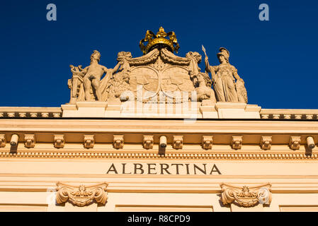 The Albertina is a museum in the Innere Stadt of Vienna, Austria. - Stock Photo