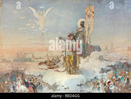 Allegory on the Coronation of Empreror Alexander III, 1883. - Stock Photo