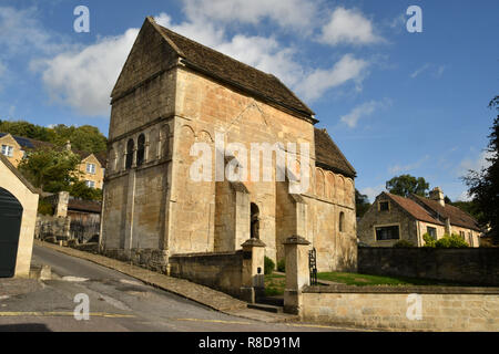 The saxon Church of St Lawrence,,one of the few unaltered examples saxon architecture,Bradford on Avon, Wiltshire.UK. - Stock Photo