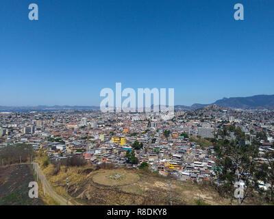 Brazilian slum seen from above - Stock Photo