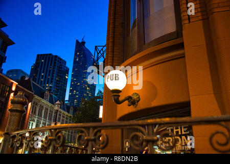 Toronto, Ontario, Canada-20 April, 2018: Toronto pub at downtown location near Front Street in Toronto Financial district - Stock Photo