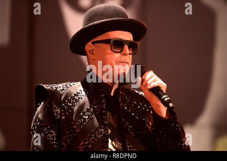 Neil Tennant with the Pet Shop Boys performs in concert at the Fillmore  in Miami Beach on September 9, 2009. - Stock Photo