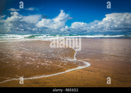 walk at Fanore Beach, Burren, Co Clare, Ireland - Stock Photo