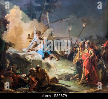 Christ in the Garden of Gethsemane by Giovanni Battista Tiepolo (1696-1770), oil on canvas, after 1753 - Stock Photo